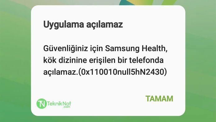 Samsung Health Uygulama Açılamaz Hatası Çözümü