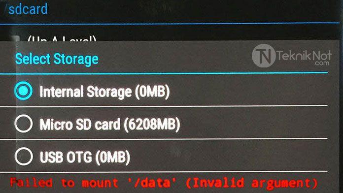 TWRP Mount Data Hatası ve Storage (0MB) Hatası Çözümü